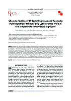 Characterization of o-demethylations and aromatic hydroxylations mediated by cytochromes P450 in the metabolism of flavonoid aglycons