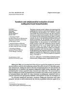 prikaz prve stranice dokumenta Synthesis and antiplasmodial evaluation of novel mefloquine-based fumardiamides