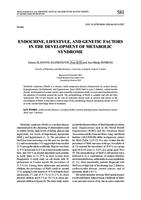Endocrine, lifestyle, and genetic factors in the development of metabolic syndrome