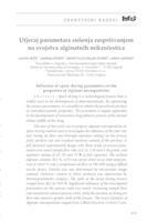 Utjecaj parametara sušenja raspršivanjem na svojstva alginatnih mikročestica
