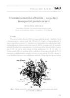 prikaz prve stranice dokumenta Humani serumski albumin - najvažniji transportni protein u krvi