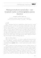 prikaz prve stranice dokumenta Mukopenetrativne nanočestice - nov terapijski sustav za dostavu lijeka putem sluznica
