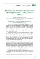 prikaz prve stranice dokumenta Identifikacija cinarina u ekstraktu lista artičoke primjenom LC/DAD/MS/MS tehnike
