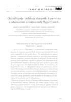 prikaz prve stranice dokumenta Određivanje sadržaja ukupnih hipericina u odabranim vrstama roda Hypericum L.