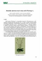 Biološki aktivne tvari vrsta roda Plantago L.