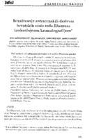 Istraživanje antracenskih derivata hrvatskih vrsta roda Rhamnus tankoslojnom kromatografijom