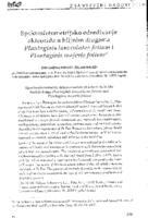 prikaz prve stranice dokumenta Spektrofotometrijsko određivanje akteozida u biljnim drogama Plantaginis lanceolatae folium i Plantaginis majoris folium