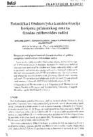 prikaz prve stranice dokumenta Botanička i fitokemijska karakterizacija korijena primorskog omana (Inulae crithmoides radix)