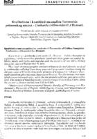 prikaz prve stranice dokumenta Kvalitativna i kvantitativna analiza flavonoida primorskog omana - Limbarda crithmoides (L.) Dumort.