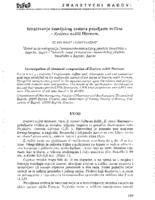 Istraživanje kemijskog sastava patuljaste sviline - Zostera noltii Hornem.
