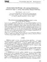 Fitokemijsko istraživanje velecvjetnog kukurijeka - Helleborus niger L. subsp. macranthus (Freyn) Schiffner
