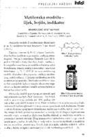 Metilensko modrilo - lijek, bojilo, indikator