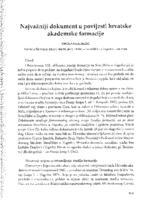 Najvažniji dokument u povijesti hrvatske akademske farmacije